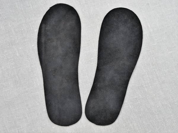 Bilde av  Skinnsåler til tova tøfler, voksne,uten hullkant